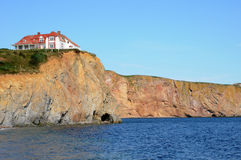 Quebec, the coast of Perce in Gaspesie Royalty Free Stock Photography