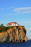 Quebec, the coast of Perce in Gaspesie Stock Images