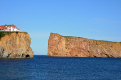 Quebec, the coast of Perce in Gaspesie Stock Photos