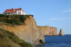 Quebec, the coast of Perce in Gaspesie Royalty Free Stock Images