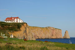 Quebec, the coast of Perce in Gaspesie Stock Photo