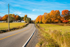 Quebec countryside in Autumn. Near Saint-Jerome, Laurentides Royalty Free Stock Photo