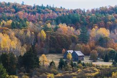 Quebec Countryside in Fall stock images