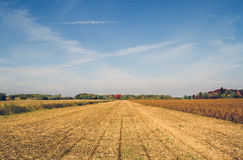 Quebec countryside after harvest Royalty Free Stock Image