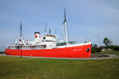 Quebec, łódź w dziejowym morskim muzeum L wysepki sura mer Obraz Royalty Free