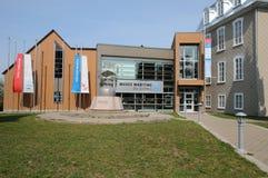 Quebec, das historische Marinemuseum von L mer sur der kleinen Insel Stockfotografie