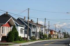 Quebec, das kleine Dorf des Heiligen Bruno lizenzfreie stockfotografie