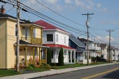 Quebec, das kleine Dorf des Heiligen Bruno stockfoto