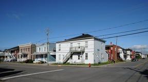 Quebec, de stad van Trois Rivieres in Mauricie royalty-vrije stock foto's