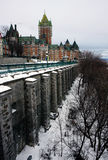 Quebec in de winter Royalty-vrije Stock Foto