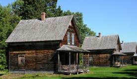 Quebec den historiska byn av Val Jalbert Arkivbild