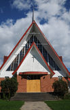 Quebec den kyrkliga Sainten Croix i Tadoussac Royaltyfria Foton