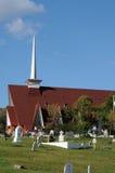 Quebec den kyrkliga Sainten Croix i Tadoussac Royaltyfria Bilder