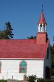 Quebec det historiska kapell av Tadoussac Arkivbild