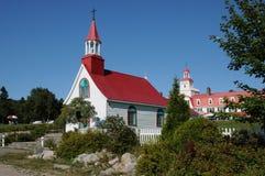 Quebec det historiska kapell av Tadoussac Royaltyfria Foton