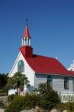 Quebec det historiska kapell av Tadoussac Royaltyfria Bilder