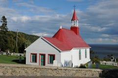 Quebec det historiska kapell av Tadoussac Arkivfoto