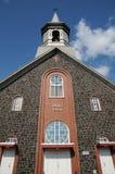 Quebec, die historische Kirche des Heiligen Bruno stockbild