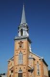 Quebec, die historische Kirche von Tracadieche-carleton stockbilder