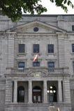 Quebec, el 28 de junio: Viejos detalles del edificio de la oficina de correos de la ciudad de Quebec vieja en Canadá Imagen de archivo