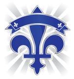 Quebec emblem. Quebec Fleur de Lys emblem illustration Ai8 Stock Photos