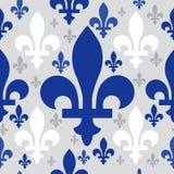 Quebec emblem pattern. Quebec emblem seamless pattern vector Stock Photos