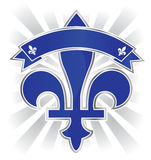Quebec emblem. Province of canada illustration Stock Photography