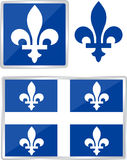 Quebec emblem. Province of canada illustration Royalty Free Stock Photo