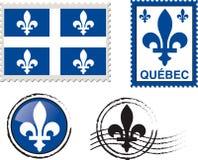 Quebec emblem stamp. Illustation, canadian province Royalty Free Stock Photos