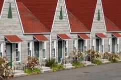 Quebec ett motell i Sanktt Jean port Joli royaltyfri bild
