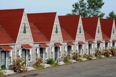 Quebec ett motell i Sanktt Jean port Joli royaltyfri foto