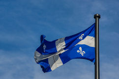 Quebec flag Stock Image