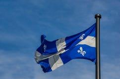 Quebec flagga Fotografering för Bildbyråer