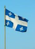Quebec flagga Arkivbilder