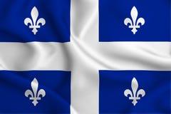 Quebec flaggaillustration royaltyfri illustrationer