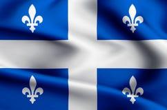Quebec flaggaillustration stock illustrationer