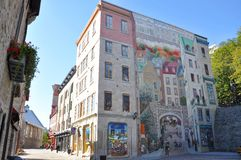 Quebec City Fresco Royalty Free Stock Photos
