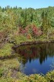 Quebec, Harvey lake in Saint Simeon Royalty Free Stock Photography