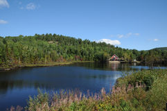 Quebec, Harvey lake in Saint Simeon Stock Photo