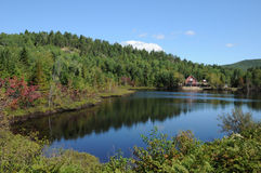 Quebec, Harvey lake in Saint Simeon Royalty Free Stock Images