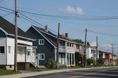 Quebec, het kleine dorp van Heilige Bruno stock foto's