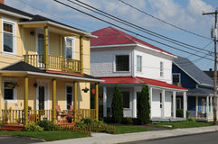 Quebec, het kleine dorp van Heilige Bruno royalty-vrije stock afbeelding
