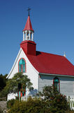 Quebec, the historical chapel of  Tadoussac Stock Image