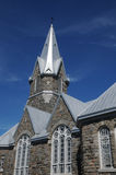 Quebec, the historical church of Baie des sables Stock Photos