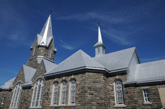 Quebec, the historical church of Baie des sables Stock Image