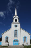 Quebec, the historical church of Baie Sainte Catherine Stock Photo