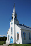 Quebec, the historical church of Baie Sainte Catherine Royalty Free Stock Photo