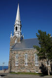 Quebec, the historical church of Cap Chat Royalty Free Stock Photos
