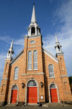 Quebec, the historical church of Kamouraska Royalty Free Stock Images