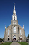 Quebec, the historical church of Riviere du Loup Royalty Free Stock Photography